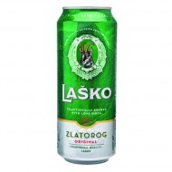 Pivo Lasko Zlatorog limenka 0.5L